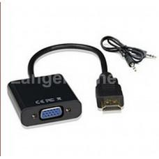 Преобразователь HDMI to VGA со звуком черный