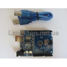 Arduino Uno R3 ATMega328-AU + CH340G бонус USB кабель