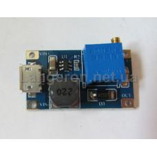 DC-DC повышающий 2-24в в 5-28 2А мини (Micro USB) КПД 93%