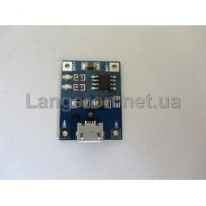 Контроллер для зарядки TP4056 литий-ионных батарей, Micro USB 1A Li-ion