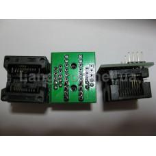 ZIF переходник SOP8 на DIP8 Mil200 (25 серия) 1,27 на 5,27 мм