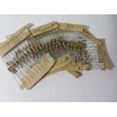 Набор 1/4Вт резисторов 200 -4.3K Ом 25 номинал по 10шт 250шт