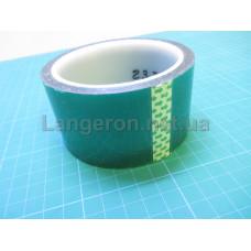 Скотч каптон термостойкий прозрачно-зеленый 50мм 33м
