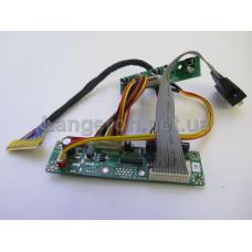 Комплект  ун. скалер MT6820 + fix30p dual8 + VGA + DC + кнопки
