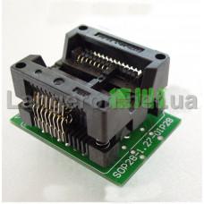 Переходник SOP16 на DIP16 Mil300 (MX25L12845) 1,27 на 5,27 мм