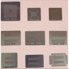 Шаблоны для реболла память DRR DDR2 DDR3 9 шт